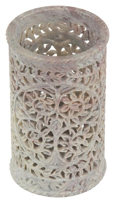 Sehar Crafts Soapstone Vase Flowers Pot 6 Pipe Styal 6 Cm X 7 Cm X