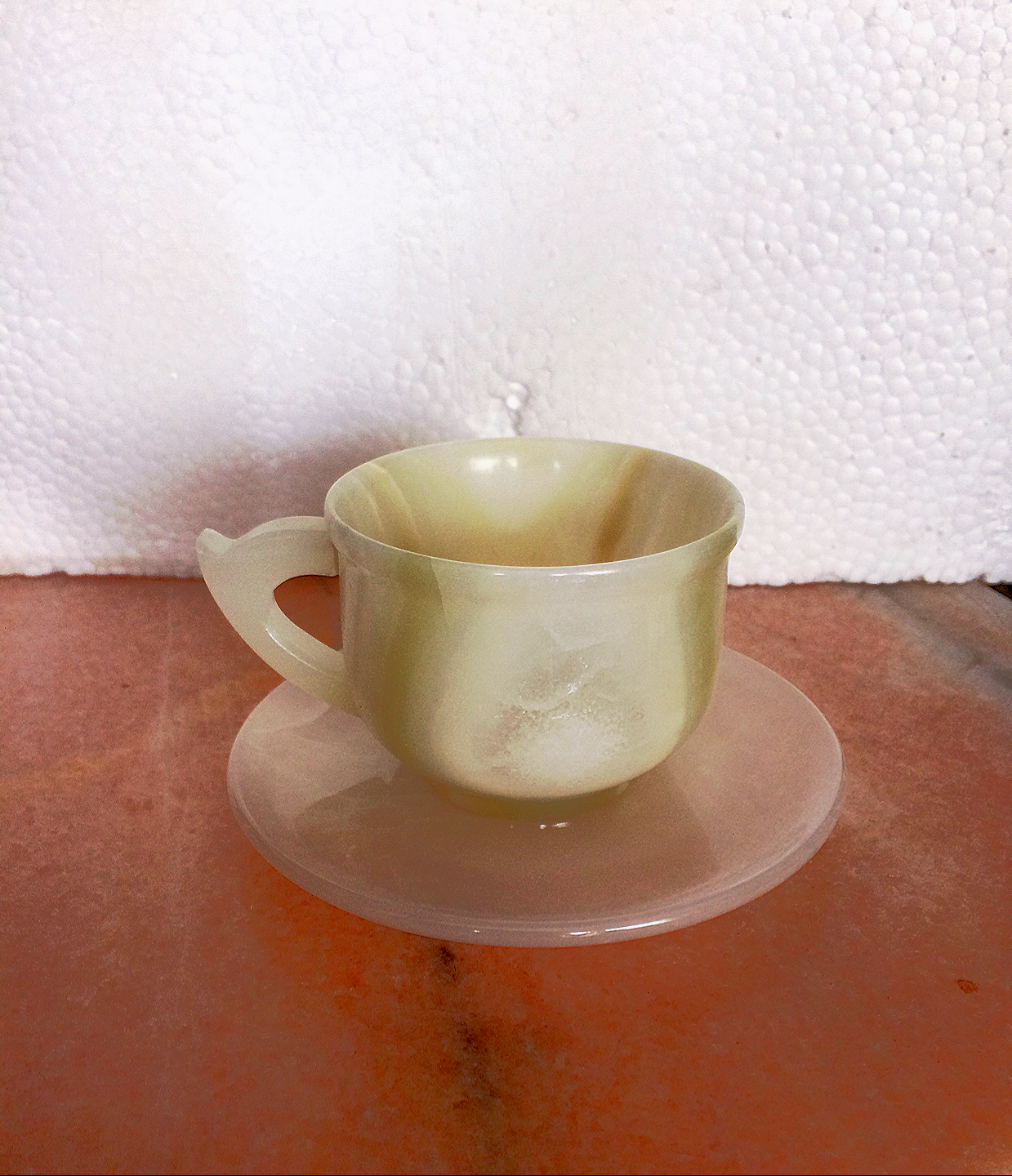 Tea Cup Set Onyx Marble Natural White Set Of 6 Cup